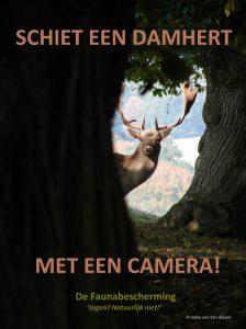 schiet een damhert... met de camera!, damherten actie van de faunabescherming