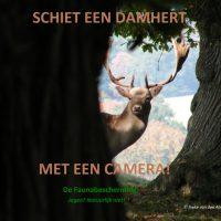 actie faunabescherming schiet een damhert met de camera
