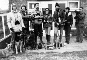 mensen van Kritisch Faunabeheer op Terschelling, 1983