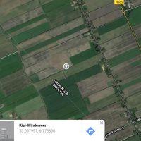 de locatie van de vondst, Kiel-Windeweer